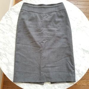 J. Crew Gray Pencil Skirt